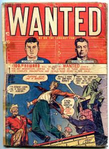 Wanted #19 1949- Golden Age Precode Crime- FAIR