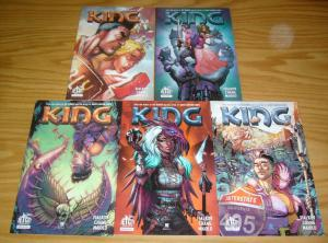 King #1-5 VF/NM complete series - joshua hale fialkov - jet city comics set lot