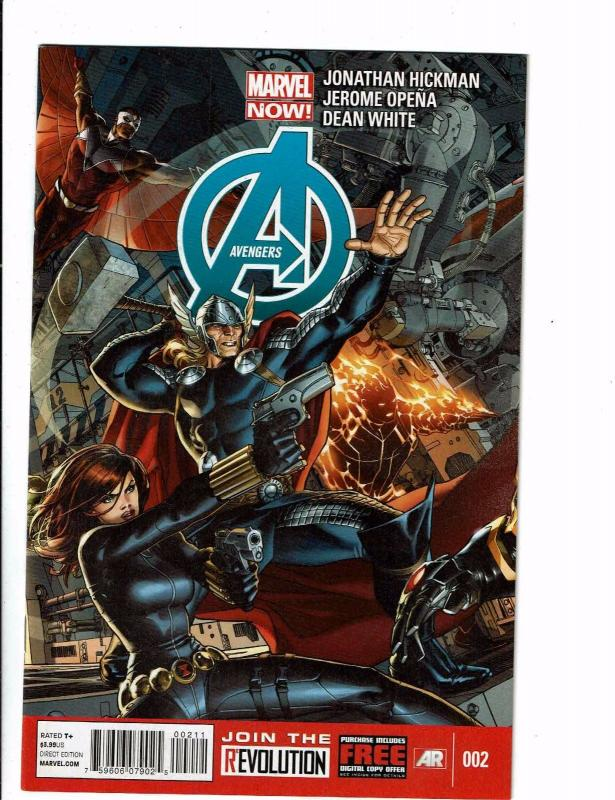 Lot Of 2 Avengers Marvel NOW Comic Books # 2 11 Iron Man Hulk Thor Widow J120
