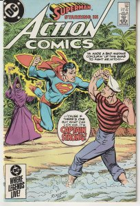 Action Comics(Vol. 1) # 566  DC's Answer to Popeye !
