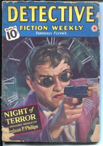 Detective Fiction Weekly 3/25/1940-Munsey-Judson P Philips-crime pulp-G