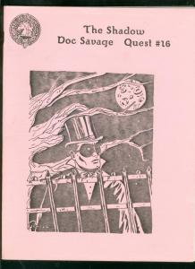 SHADOW DOC SAVAGE QUEST #16 1985-PHANTOM-PULP FANZINE   VF