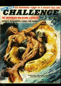 Challenge For Men July 1957- Jackie Robinson - Jack the Ripper - Nasser VG/F