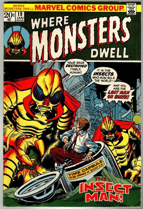 WHERE MONSTERS DWELL 19 VG-F Jan. 1973