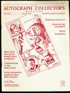 AUTOGRAPH COLLECTORS MAGAZINE 1988 MAY-CARTOON ART VG