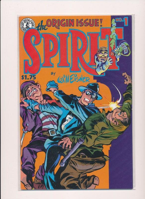 Kitchen Sink Comic THE SPIRIT-Origin Issue #1 VF/NM (SRU322) / HipComic