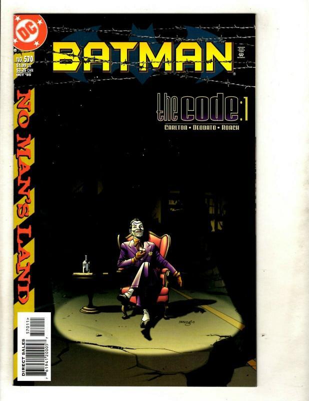 Batman # 570 NM 1st Print DC Comic Book Harley Quinn Joker Robin Catwoman SM8