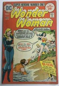 WONDER WOMAN#216 VG/FN 1975 DC BRONZE AGE COMICS