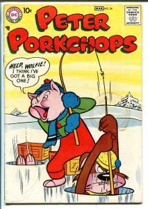 PETER PORKCHOPS #54 1958-DC COMICS-ICE FISHING COVER-SHELDON MAYER ART-good/vg