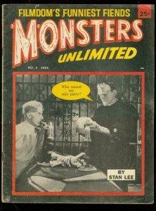 MONSTERS UNLIMITED #4 1965-STAN LEE-FRANKENSTEIN-HORROR VG