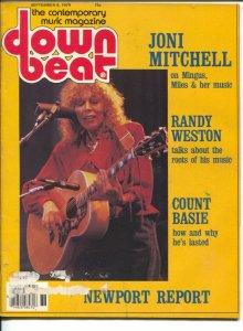 Down Beat 9/6/1979-Joni Mitchell-Count Basie-pix-music history-VG