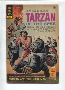 TARZAN #206 1972-GOLD KEY-EDGAR RICE BURROUGHS-VG/FN