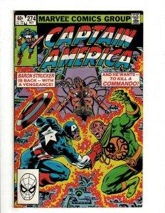 12 Captain America Marvel Comics 274 276 277 278 279 280 281 283 284 285 + NP14