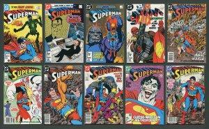 Superman #1 - #10 (SET)  9.4 NM  (John Byrne) 1987