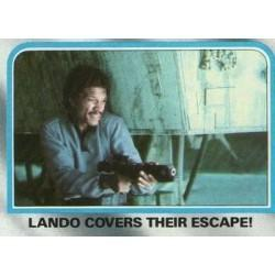 1980 Topps Star Wars The Empire Strikes Back LANDO COVERS THEIR ESCAPE! #221 EX/