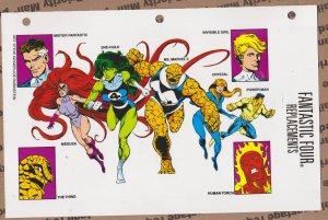 Official Handbook of the Marvel Universe Sheet - Fantastic Four Replacements