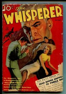 THE WHISPERER-OCT 1937-THRILL PACKED HERO PULP-JIM STORM-good