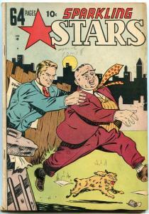 Sparkling Stars #18 1946- Jungo Man Beast- Hells Angels- Golden Age VG