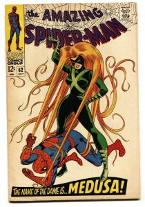 Amazing Spider-Man #62 1968  Medusa- Romita cover FN