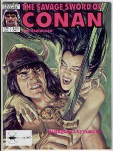 SAVAGE SWORD of CONAN #141, VF/NM, Crimson Citadel, Ernie Chan