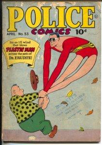 Police #53 1946-Quality-Plastic Man-Human Bomb-Candy-Sahle-G/VG