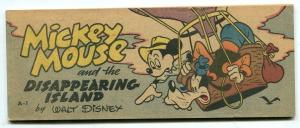 Mickey Mouse and the Disappearing Island- Wheaties Giveaways Comic A-1
