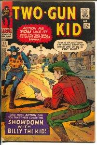 Two-Gun Kid  #80 1966-Marvel-Billy The Kid-Stan Lee-Dick Ayers-VG/FN