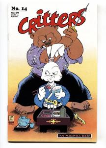 Critters #14 Usagi Yojimbo-Signed/sketch by STAN SAKAI-comic