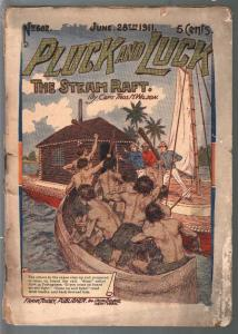 Pluck and Luck #682 6/28/1911-Tousey-The Storm Raft-pulp fiction-P