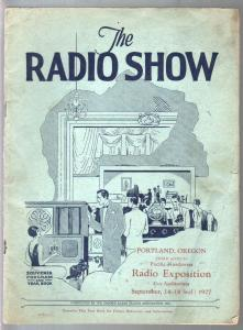 Radio Show Exposition Souvenir Program & Year Book 9/14/1927-Portland OR-very ra