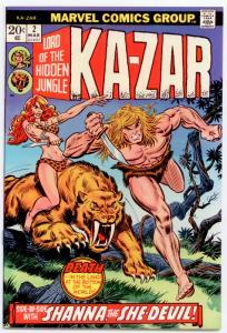 Ka-Zar #2 NM 9.4  2nd series; Hawkeye; Shanna