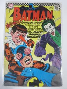 BATMAN 186 VERY GOOD+ NOVEMBER 1966 JOKER! COMICS BOOK