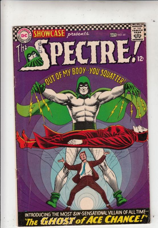 Showcase #64 (Oct-66) FN/VF Mid-High-Grade The Spectre (Jim Corrigan)