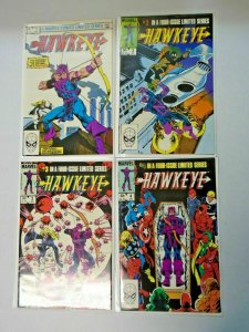 Hawkeye set 1st Series all Direct 4 different books 8.5 VF+ (1983)
