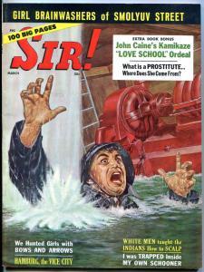 Sir! Magazine March 1961- Hamburg Vice City- Jeri Fitzgerald- Casey Stengal