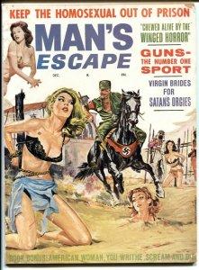 Man's Escape #5 12/63- Nazi torture cover- Stan's Orgies VG-