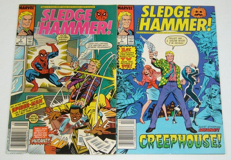 Sledge Hammer! #1-2 complete series based on tv show spider-man satana newsstand