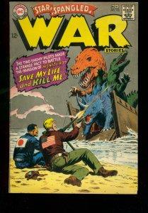 STAR SPANGLED WAR STORIES #135 1967 DC DINOSAUR STORY FN-