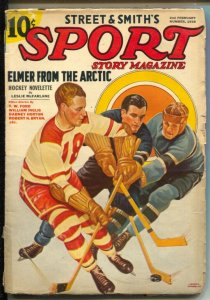 Sport Story #2 2/1938-Hockey cover-Kid McCoy Part 2-pulp fiction-VG-