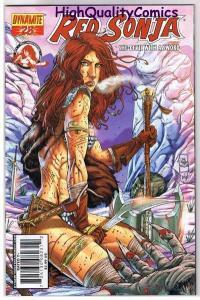 RED SONJA #28, NM, Prado, Femme Fatale, Robert Howard, 2005, more in store