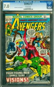 Avengers #113 CGC Graded 7.0
