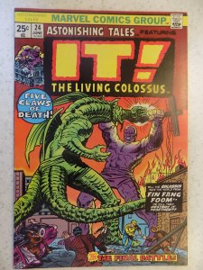 ASTONISHING TALES # 24 MARVEL BRONZE HORROR FIN FANG FOOM HI GRADE
