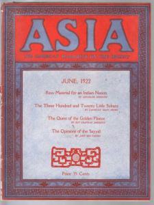 Asia 6/1922-American Magazine Of The Orient-Johhn Dos Passos-Siberia-VG/FN