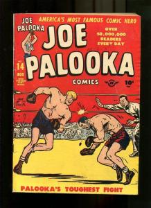 JOE PALOOKA 14-1947-HAM FISHER ART-BOXING COVER VG