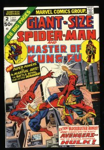 Giant-Size Spider-Man #2 VF- 7.5 Master of Kung Fu!