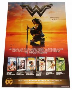 Wonder Woman Movie Graphic Novels Folded Promo Poster DC 2017 (24 x 36) New!