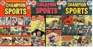 CHAMPION SPORTS (1973) 1-3  fvf  COMPLETE!! BRONZE AGE COMICS BOOK