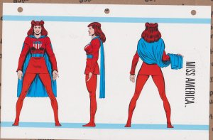 Official Handbook of the Marvel Universe Sheet- Miss America
