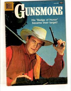 Gunsmoke # 10 VG/FN Dell Silver Age Comic Book Western Cowboy Photo Cover JL8