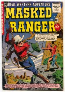 Masked Ranger Comics #8 1955-Jim Bowie- Woodbridge art VG/F